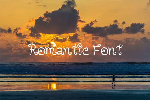 romantic font for free download
