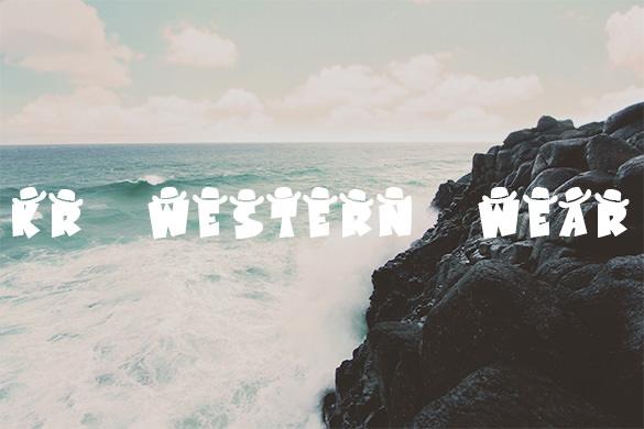 kr western wear font