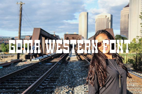 goma western font for free