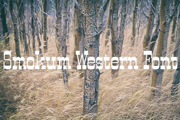 smokum western font for download