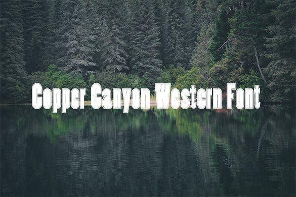 copper canyon western font