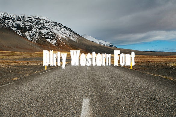 dirty western font for free download
