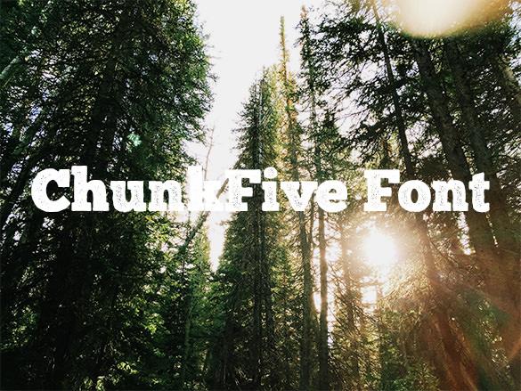 chunk five western font