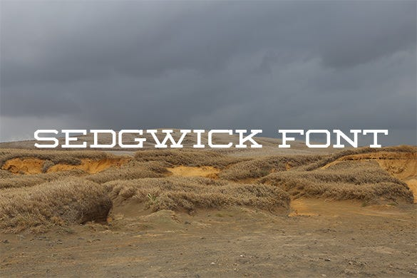sedgwick western font download