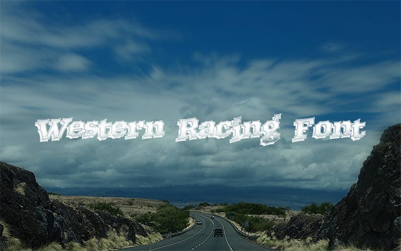 western racing font free download