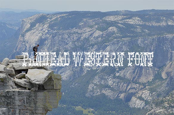 panhead western font for free