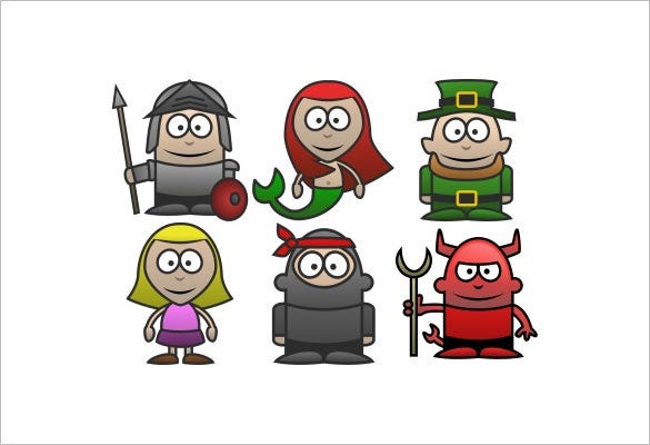 38 dynamic funny character icons