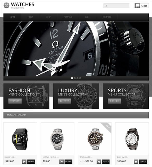 4 Watch Store JigoShop Themes & Templates | Free & Premium