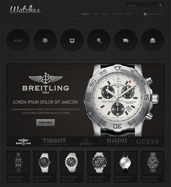 luxurious watch shop jigoshop template