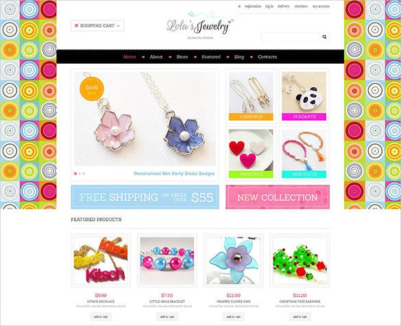 colorful jewelry jigoshop theme