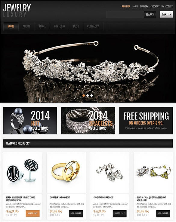 responsive jewelry jigoshop theme