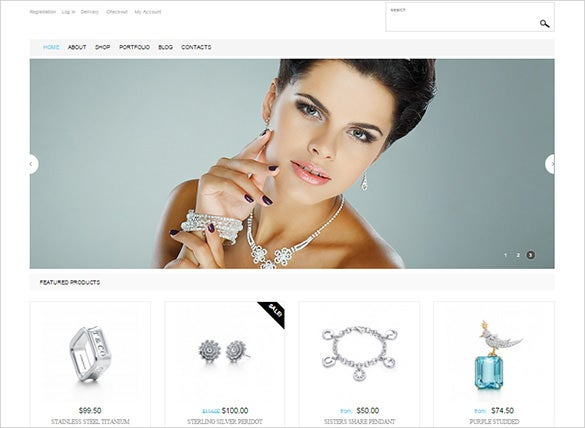 shiny jewelry jigoshop template