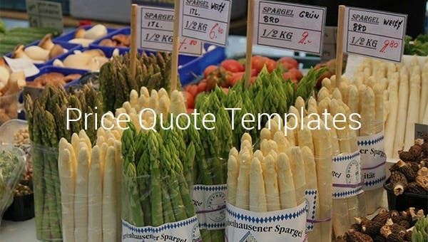 price quote template