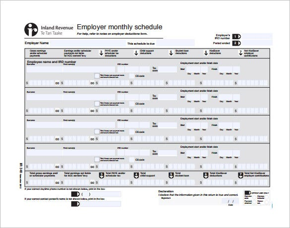 Monthly Work Schedule Template 26 Free Word Excel PDF Format