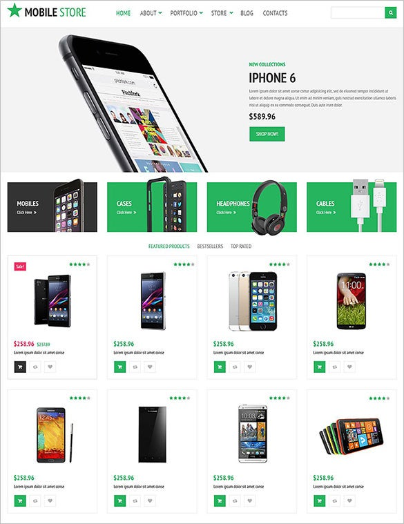 online mobile store woocommerce template