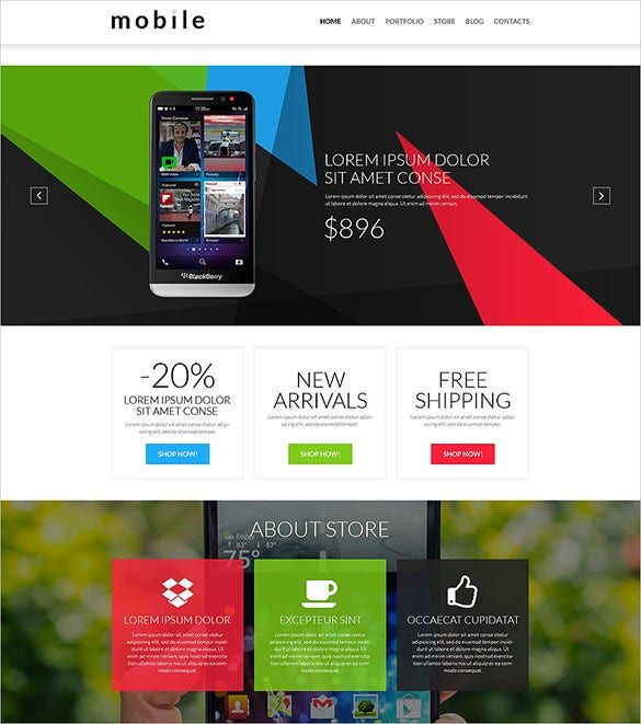 beautiful mobile store woocommerce theme