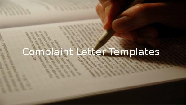 complaintlettertemplates