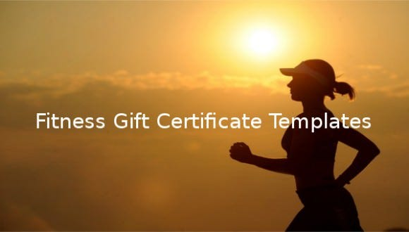 fitness gift certificate templates