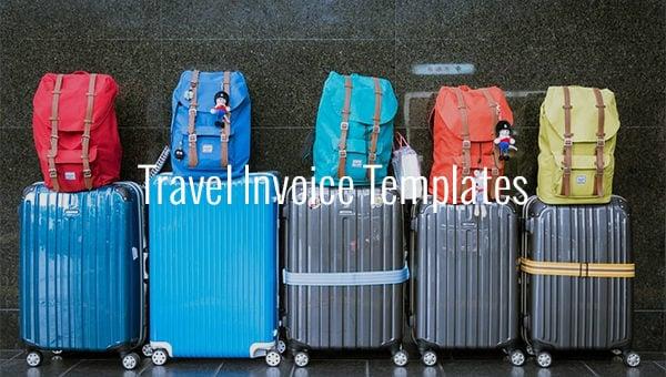travel invoice template