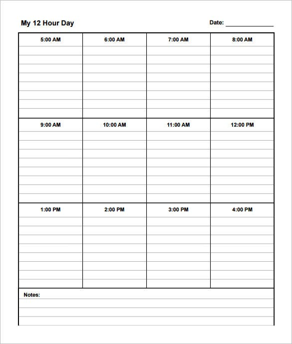 12 hour shift schedule template 10 free word excel pdf format