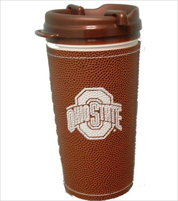 state football texture insulated car mug