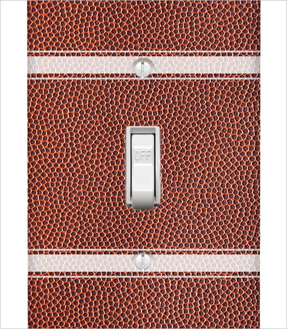 football texture on single toggle lightswitch