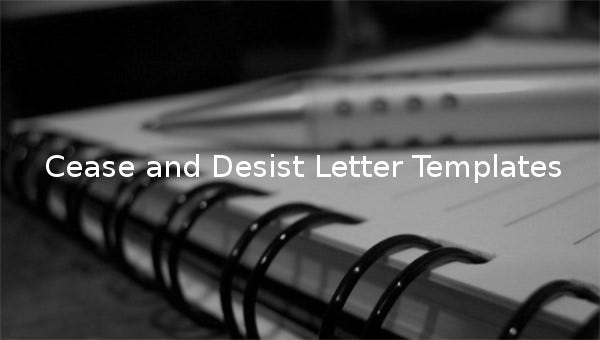 cease and desist letter templates