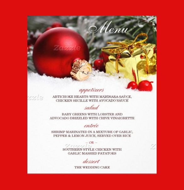 christmas menu template  u2013 30  free psd  eps  ai