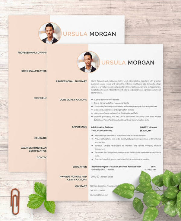 experience-administrative-assistant-resume-template