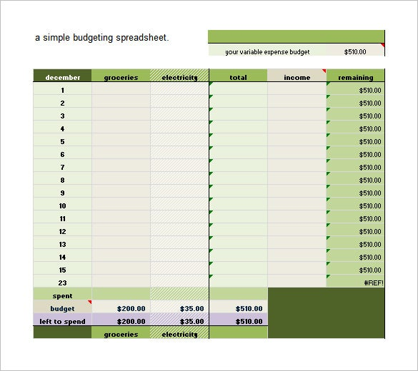 free download budget spreadsheet in excel format