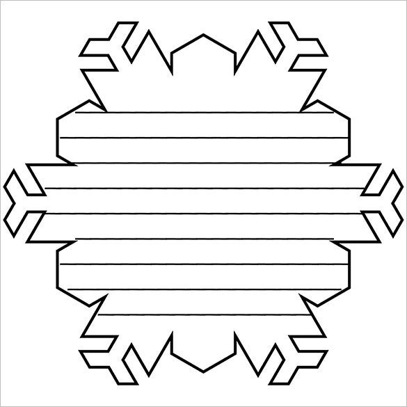 Printable Snowflake Shape Book Pattern