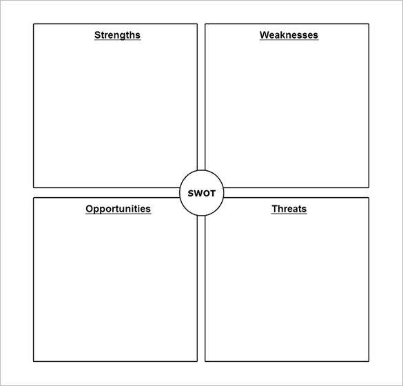SWOT Analysis Template 46 Free Word Excel PDF – Blank Swot Analysis Template