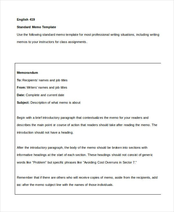 Simple Memo Template   Free Word Pdf Psd Documents Download