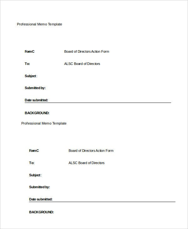 professional-memo-template