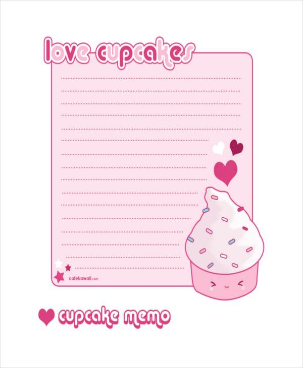 cupcake-memo-sheet