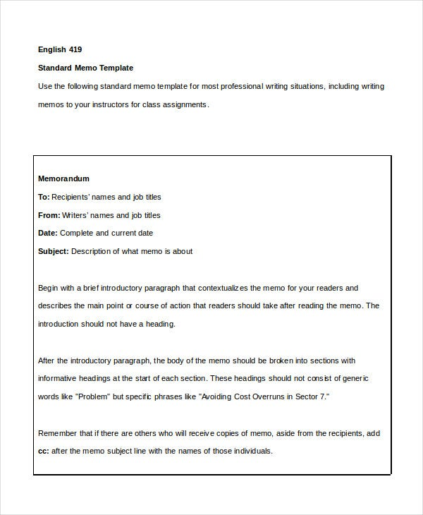 Simple Memo Template 16 Free Word PDF PSD Documents Download – Standard Memo Template