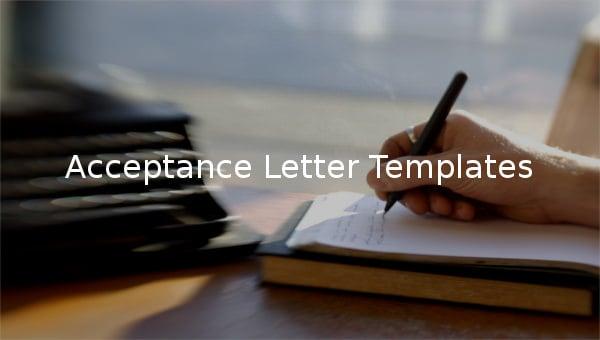 acceptance letter templates