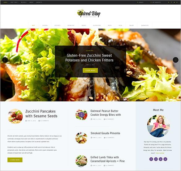 wordpress personal blog theme for restaurants