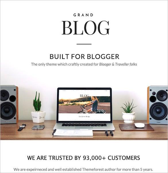 responsive wordpress theme for blog