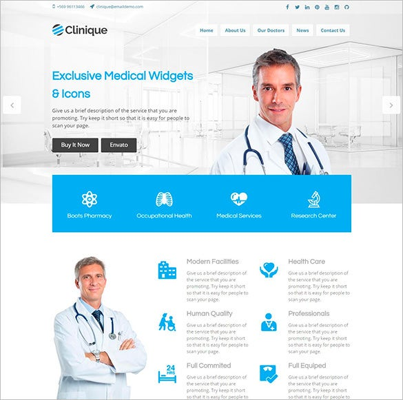 wordpress theme for medical clinique