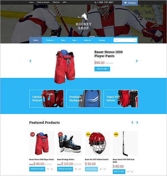 hockey shopify html5 theme