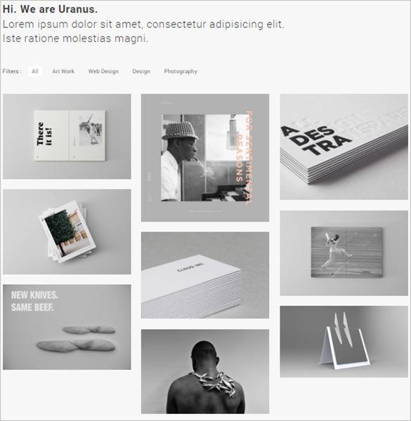 minimal portfolio html5 theme