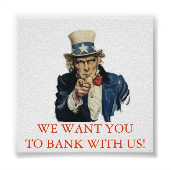 bank with us we want you poster download