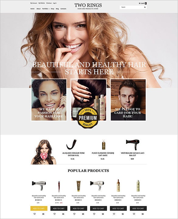 splendid hair salon woocommerce theme