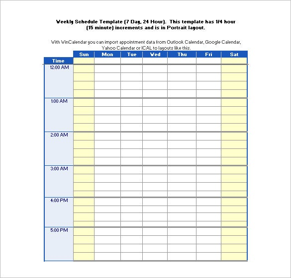 24 Hours Schedule Templates U2013 14+ Free Word, Excel, PDF Format .