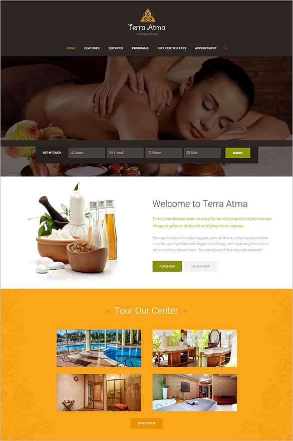 beauty spa salon wordpress woocommerce template