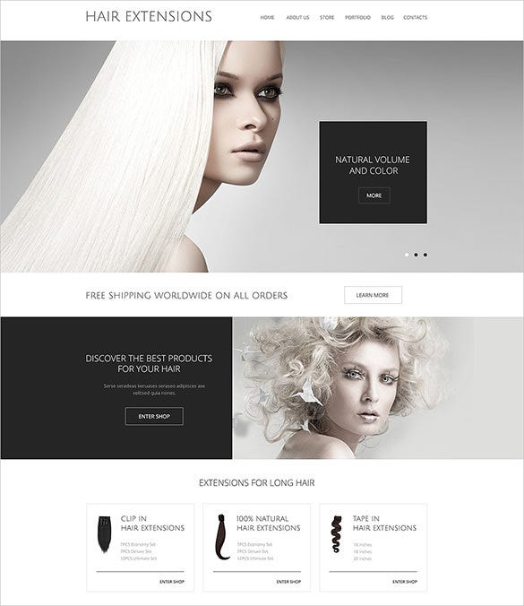 hair shop woocommerce theme