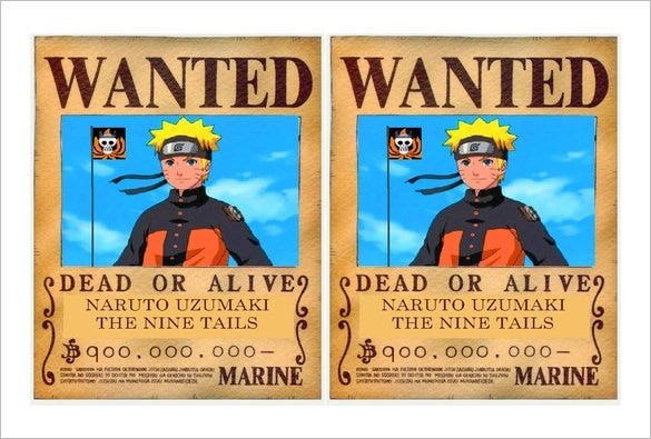 wanted pirate poster template - 11 one piece wanted poster templates free printable