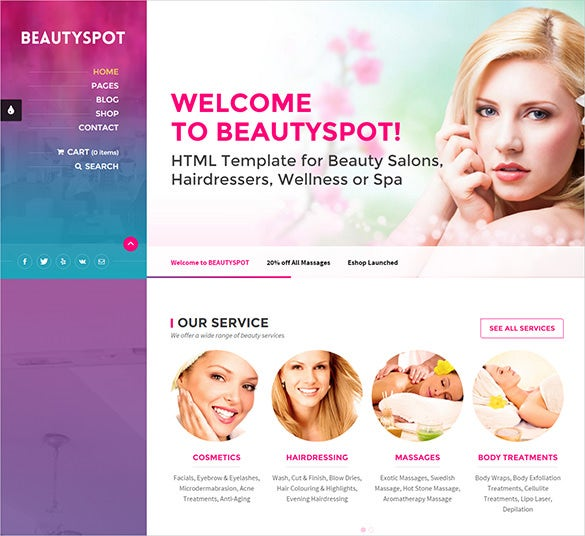 beauty salon wordpress woocommerce theme