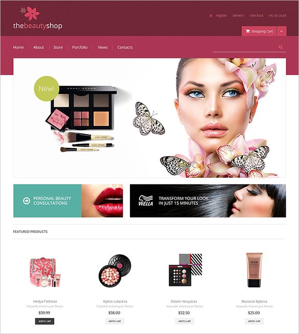 beauty shop woocommerce theme